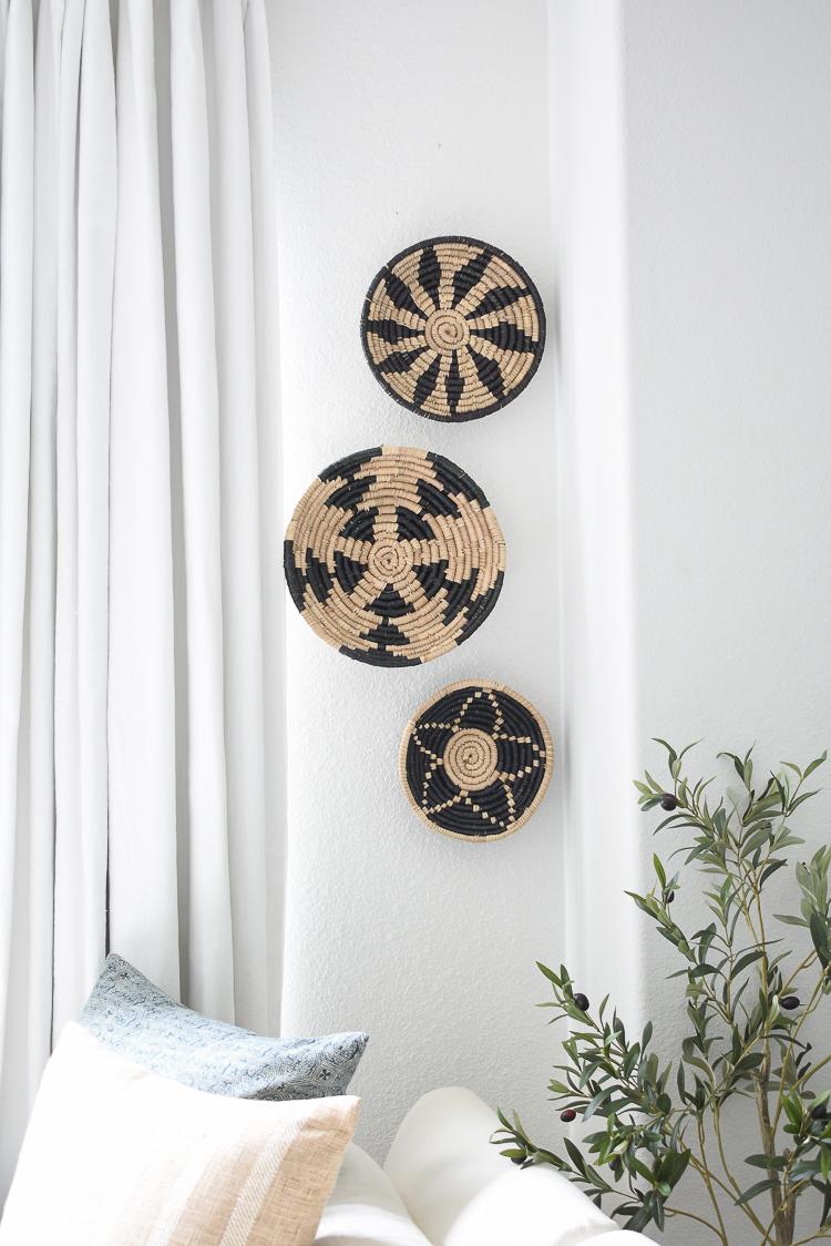 Wall hanging baskets, set of 3