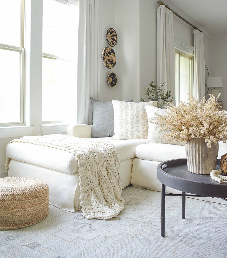 Layered, Neutral Fall Living Room Tour