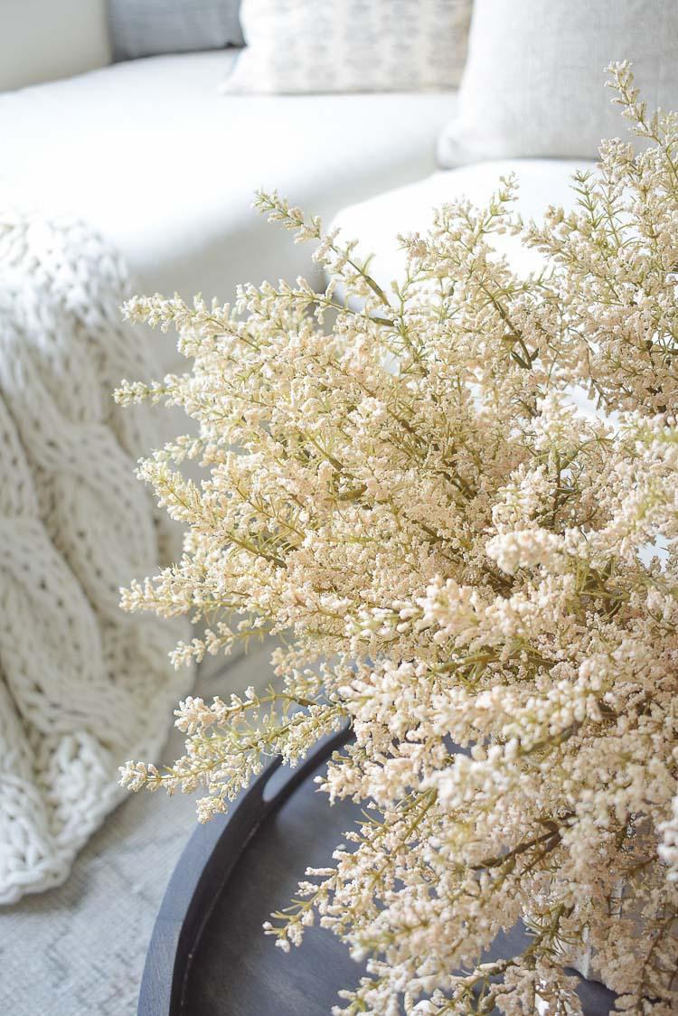 creamy white fall branches