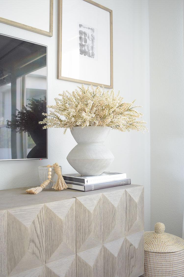 fall faux floral arrangement