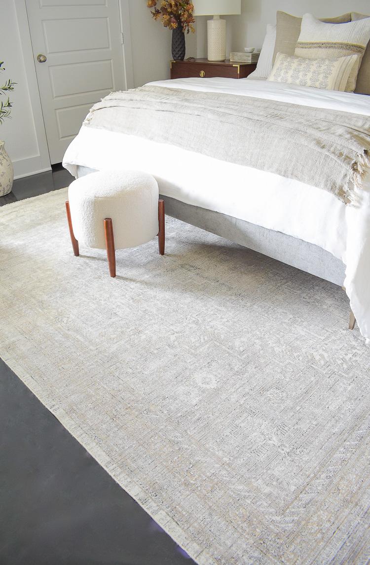 Loi Gemma hammond rug - tan, cream, black area rug persian style