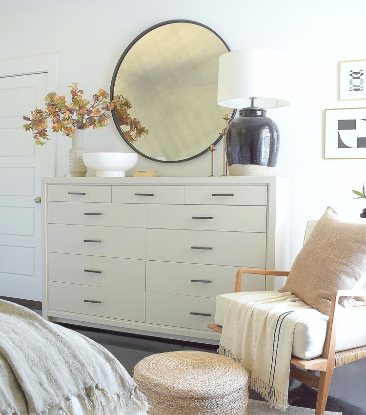 Layered, Neutral Fall Bedroom Tour