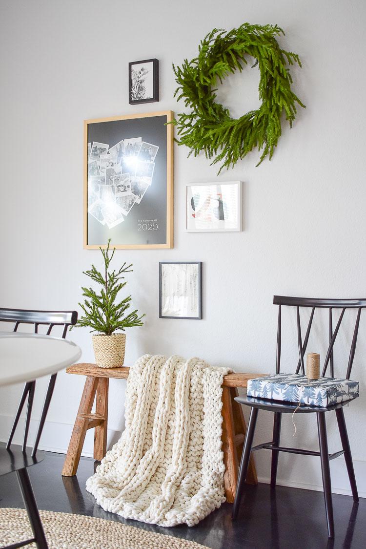 Christmas / Winter gallery wall decor - Minted heart snapshot art print