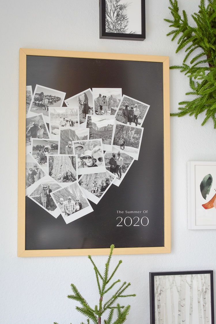 UV-Plexi Glass & Archival Materials - Organize your photos in one heart shaped collage
