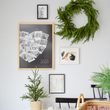 Minted Heart Snapshot Art Print styled in holiday gallery wall