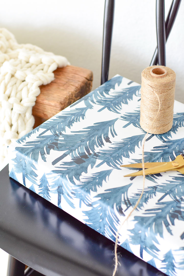 Winter Forest Modern Gift Wrapping paper from Minted