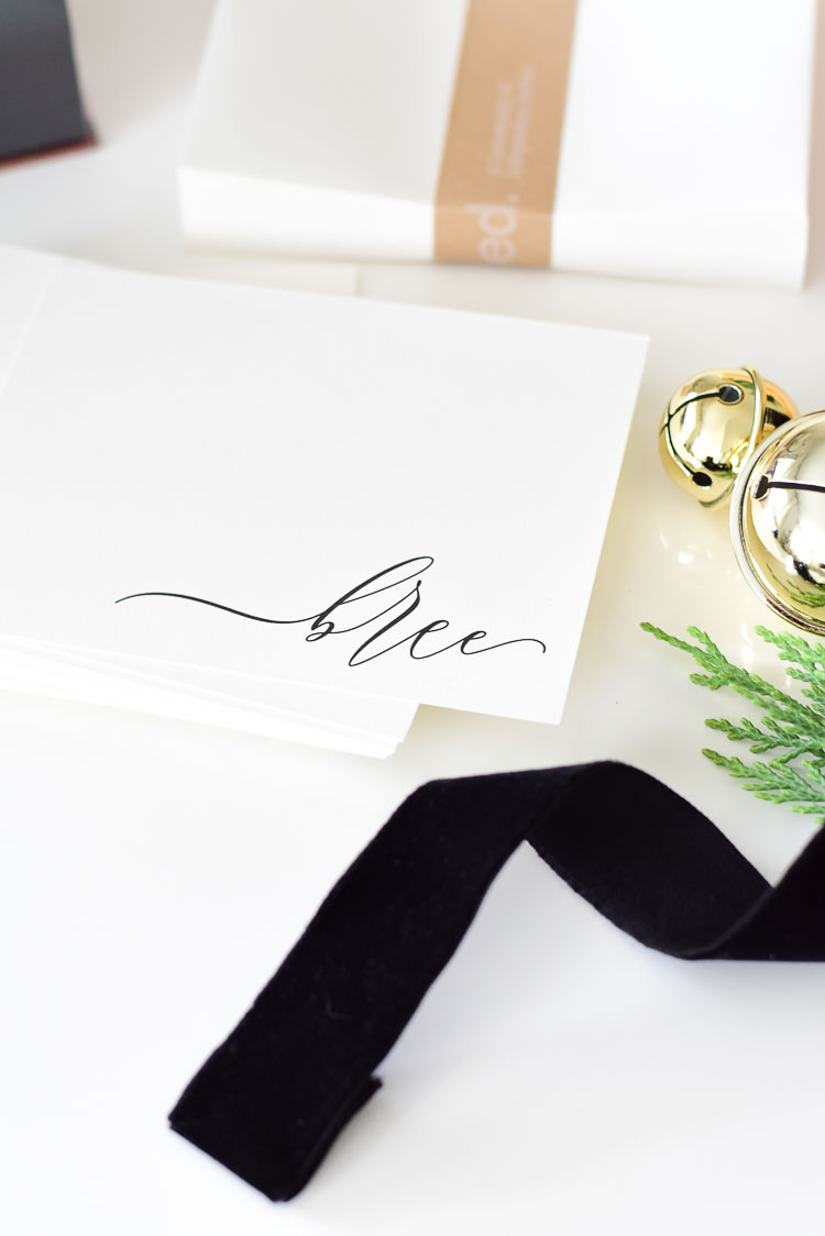 Customizable Personalized Stationary in black and white