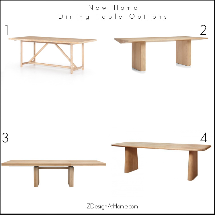 zdesign at home modern farmhouse dining table options