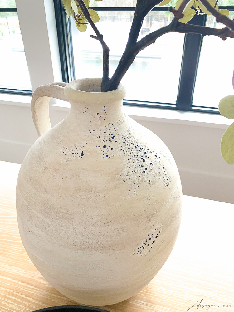 Hand painted olive jug