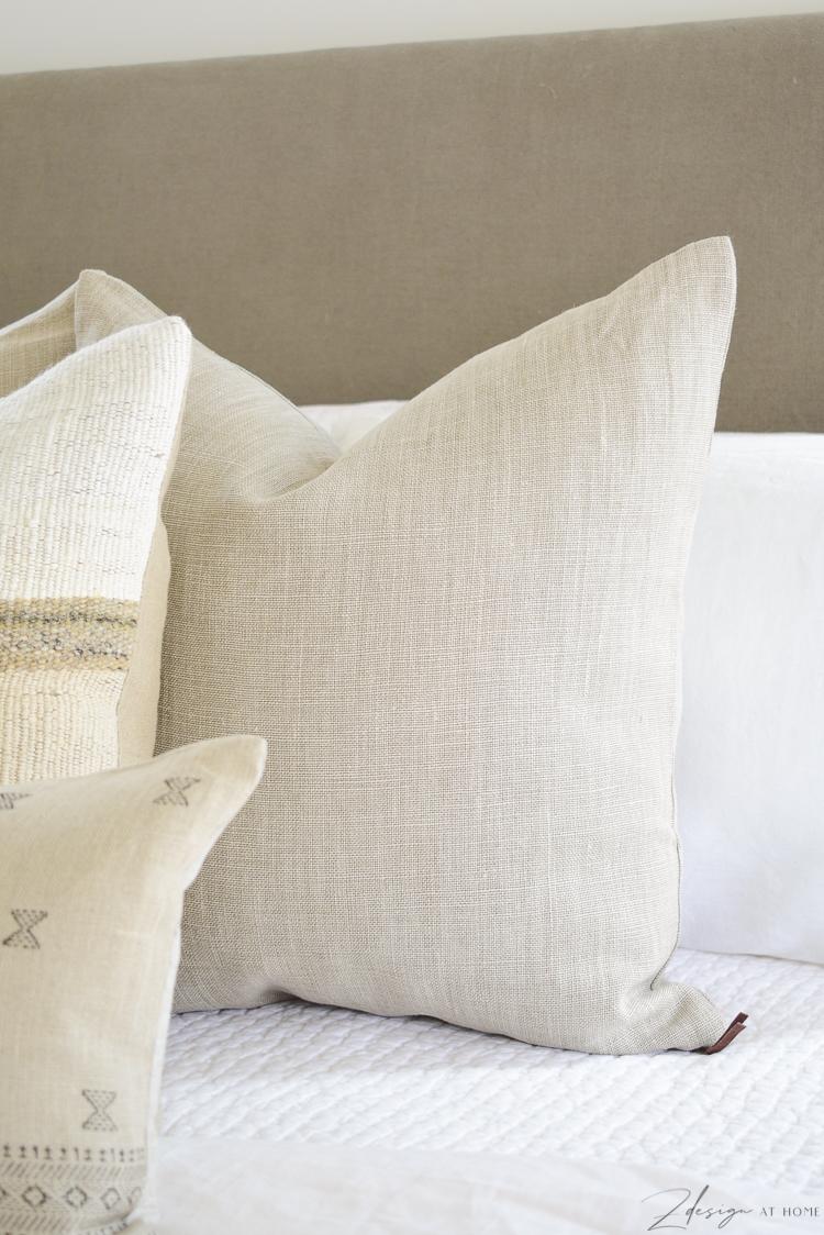 24x24 pottery barn linen pillow