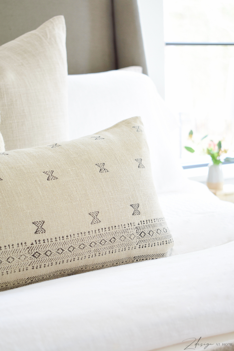 Large lumbar pillow for bed