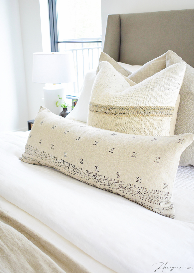 spring pillow refresh with extra large lumbar pillow cover
