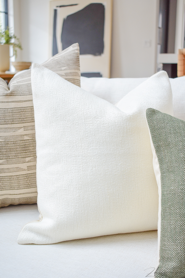 ivory linen pillow in spring pillow refresh