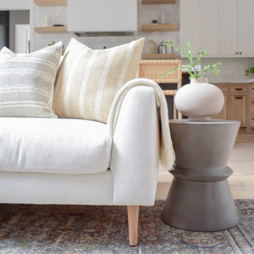 How to style sofa pillows, best inserts, review of mcgee co hale sofa