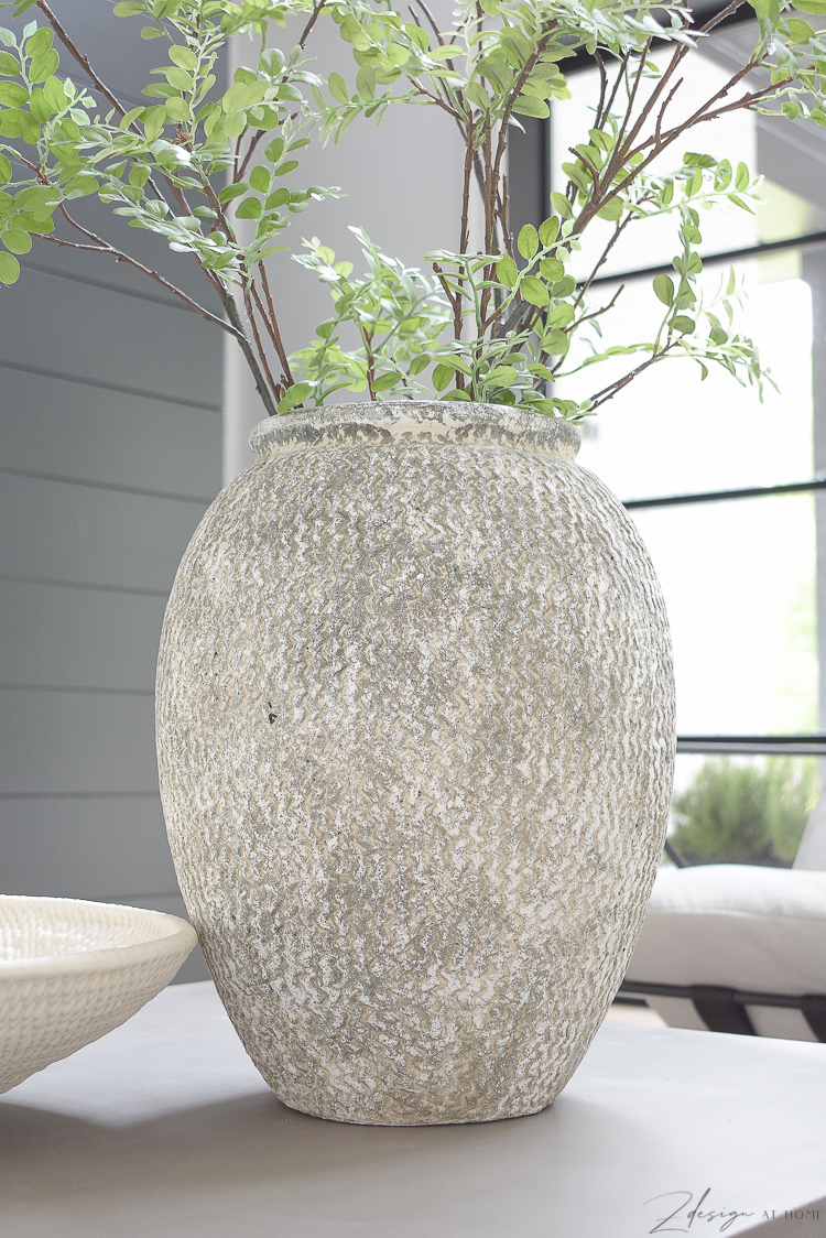 large gray textured vase from Wayfair
