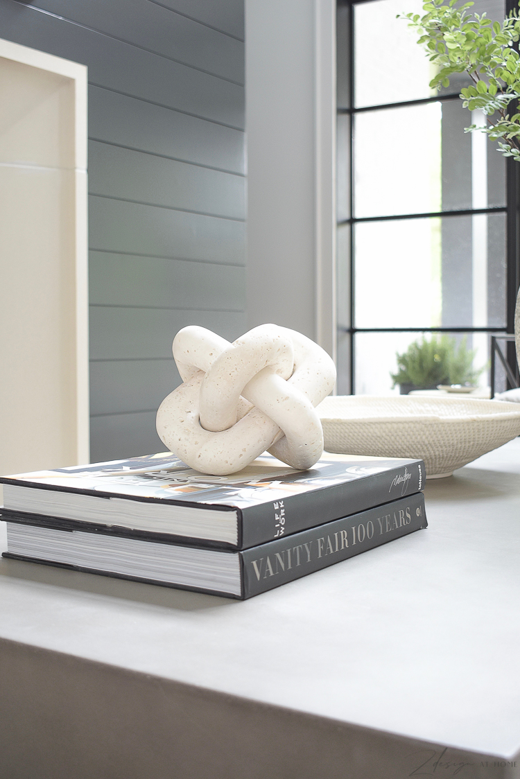 marble, travertine decorative knot for coffee table or shelves