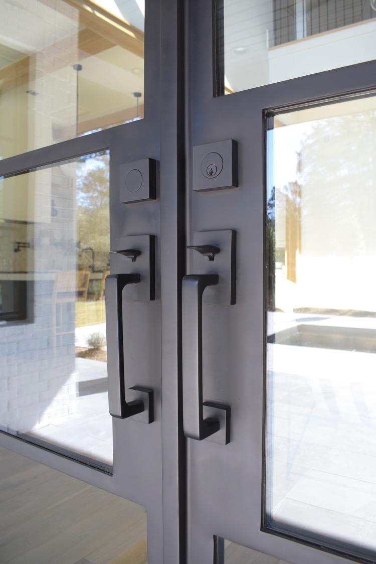 custom steel door until with emtek baden handleset