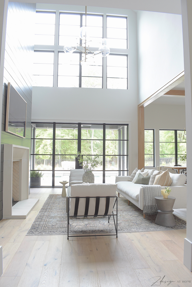 open airy living room reveal