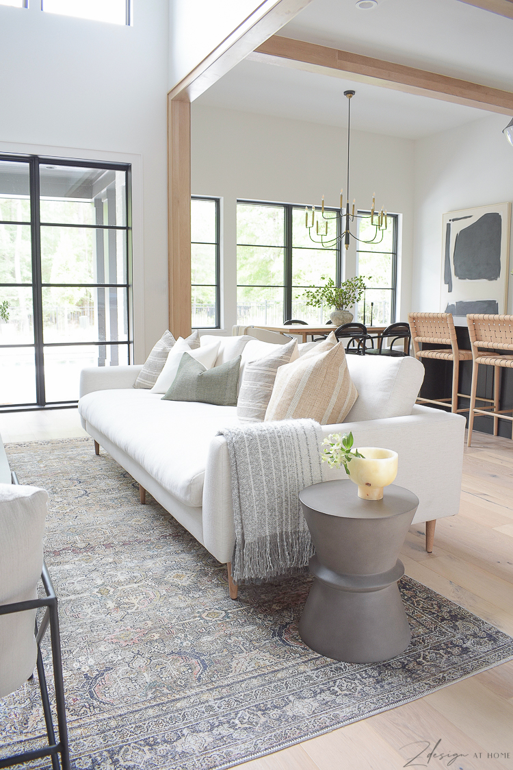 Modern living room with mcgee and co hale sofa
