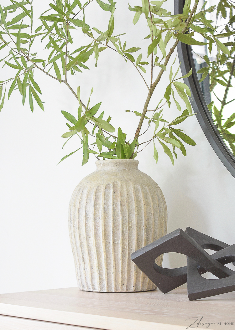 ribbed textured pottery barn vase