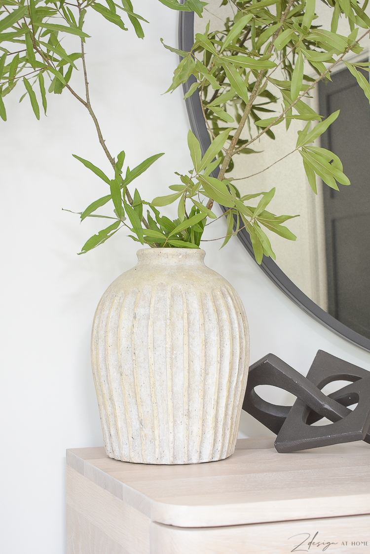 ribbed textured vase from pottery barn