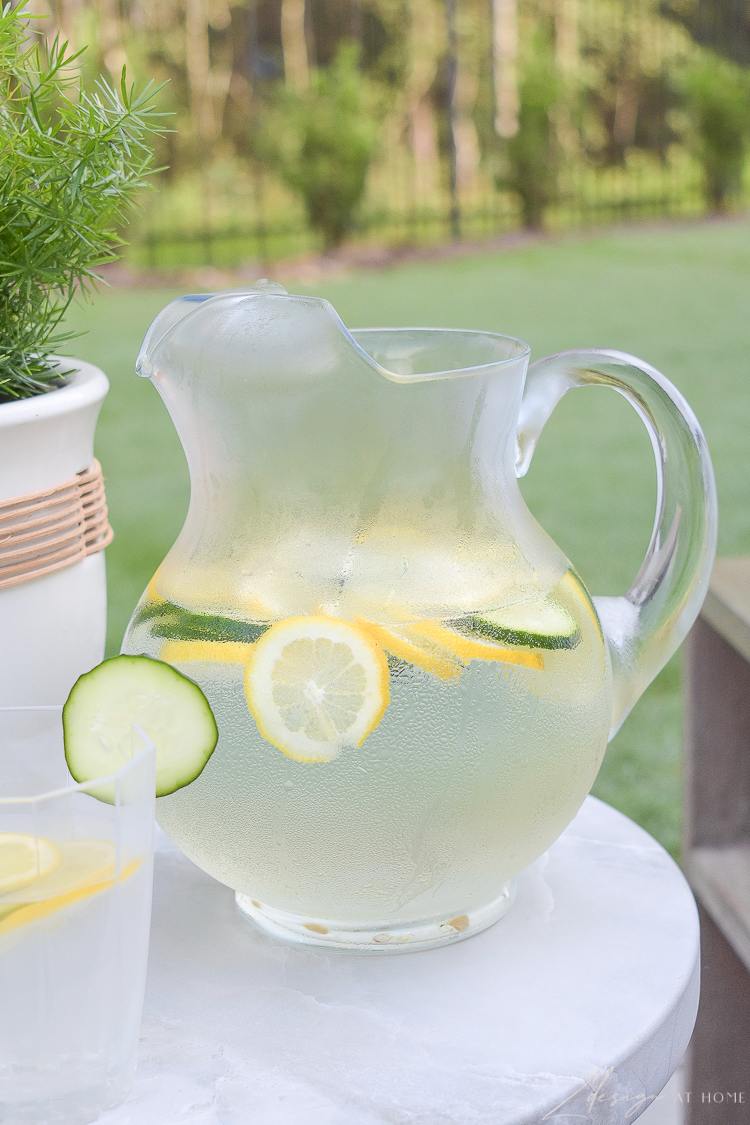 clear water pitcher for lemon cucumber water - glass from walmart home