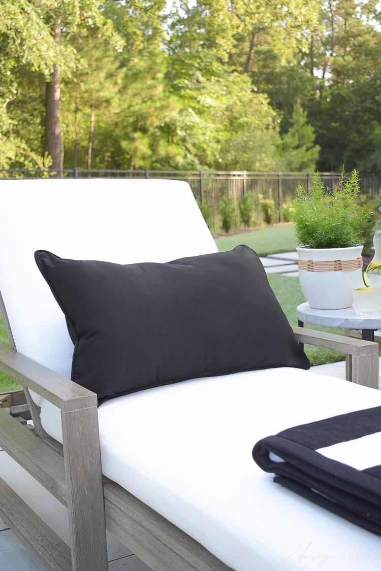 Black lumbar pillow from Walmart Home