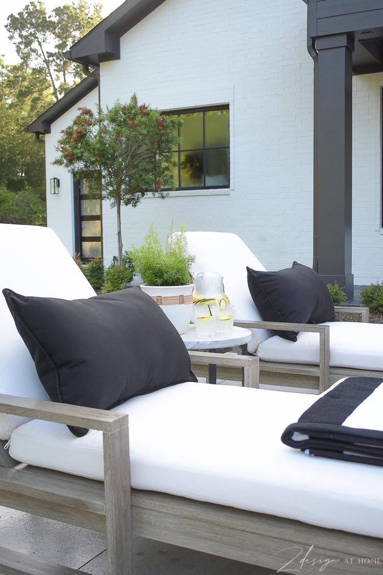 black lumbar outdoor pillows from Walmart Home