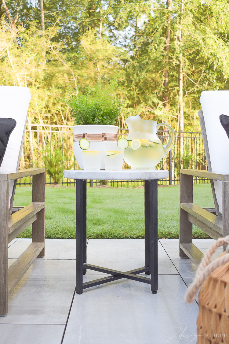 outdoor side table from walmart home