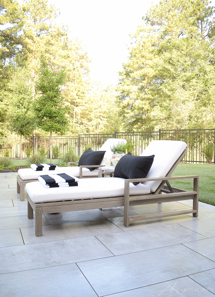 Walmart home ideas for outdoor patio styling in black and white