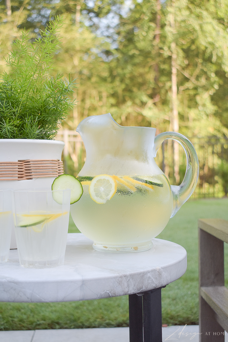 beautiful clear water pitcher from Walmart Home