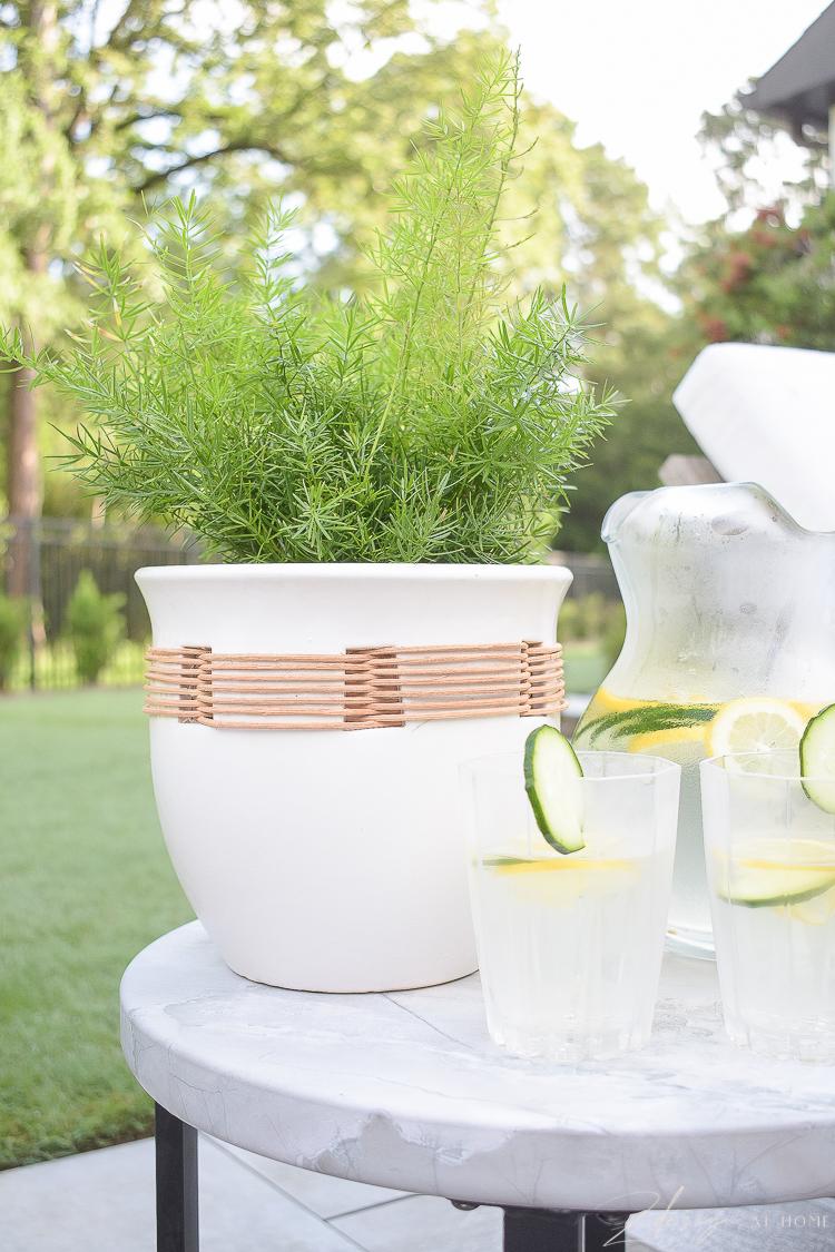 raffia planter pot outdoor - walmart home