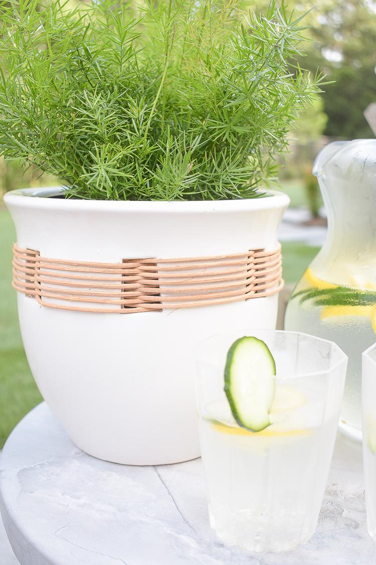raffia planter pot for outdoor - walmart home
