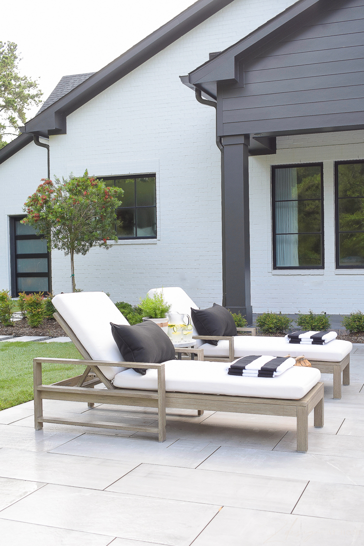 Pool loungers and beautiful outdoor decor from walmart home