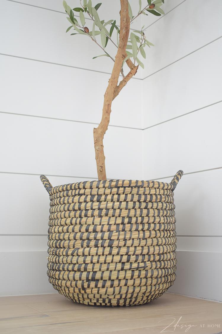 best faux plant basket