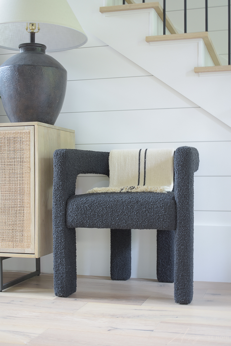 Black Boucle chair from CB2