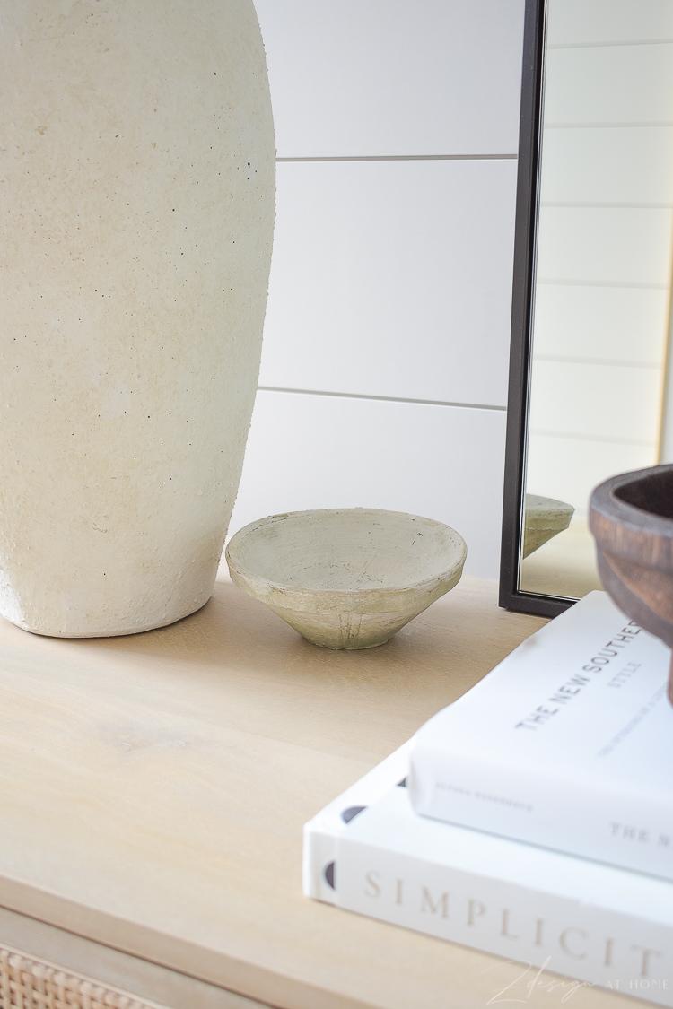 white textured terra cotta small bowl