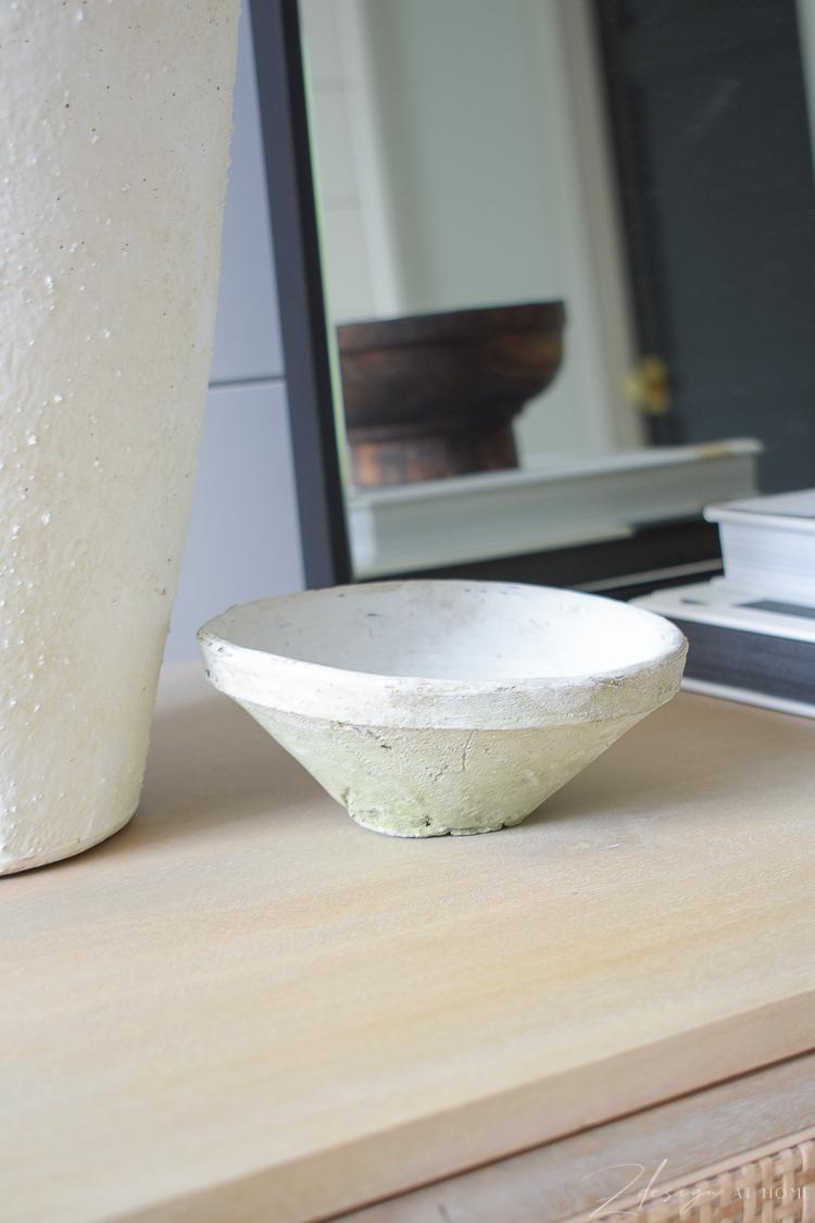 white terra cotta small bowl
