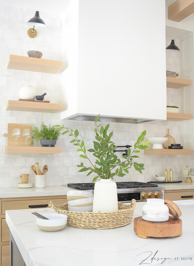summer kitchen decor from walmart - how to style your kitchen island