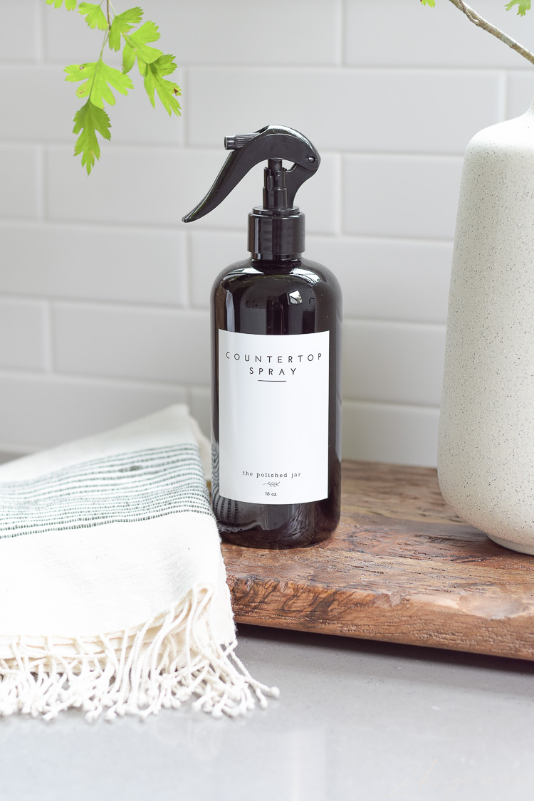 monogramed personalized countertop spray bottle