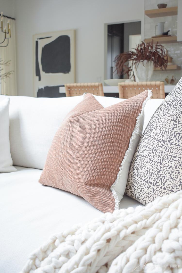 terra-cotta pillow for fall from walmart home