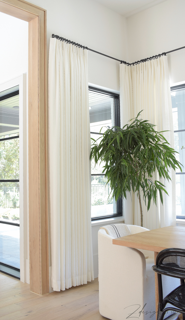 custom made white linen curtains by willow bloom home