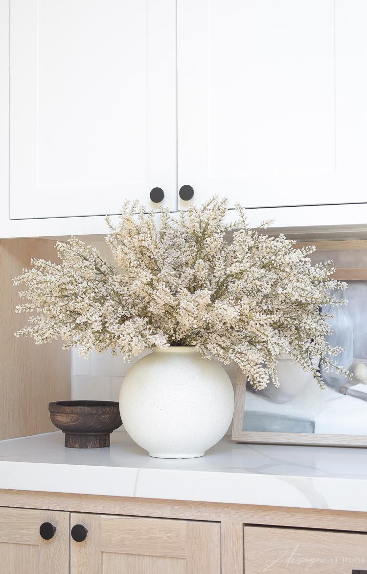 neutral fall centerpiece faux arrangement