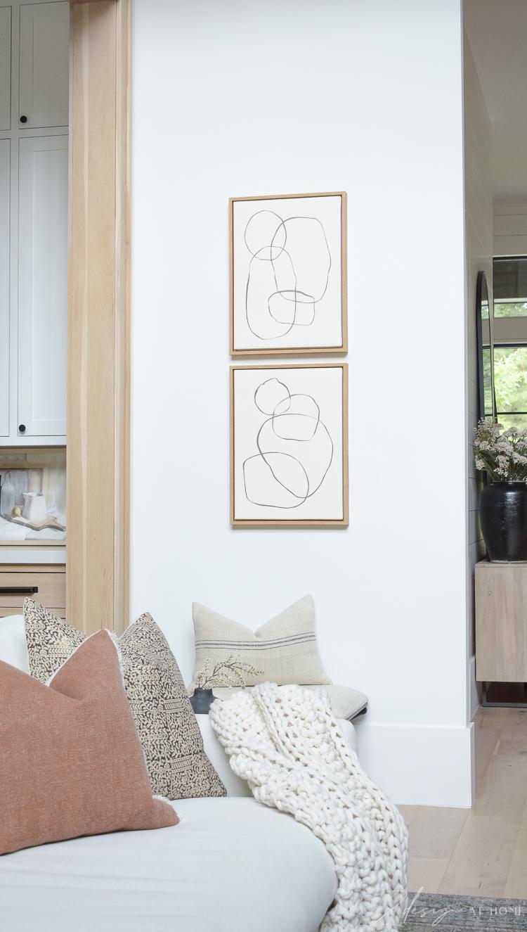 modern circles art from Walmart home -best decor from walmart , blogger picks
