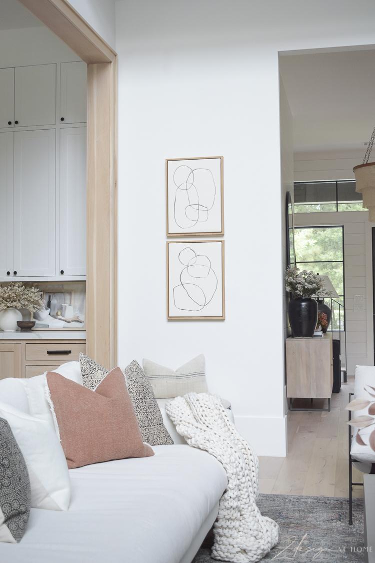 fall home decor from walmart - modern circles wall art on canvas