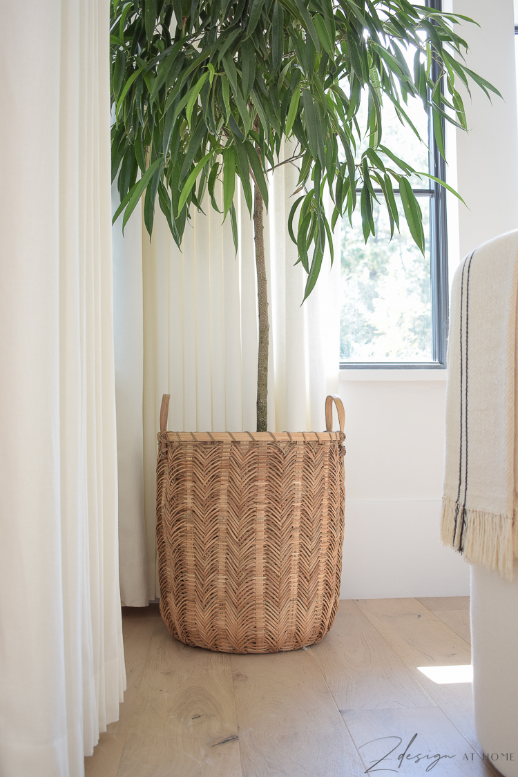 herringbone basket from serena and lily