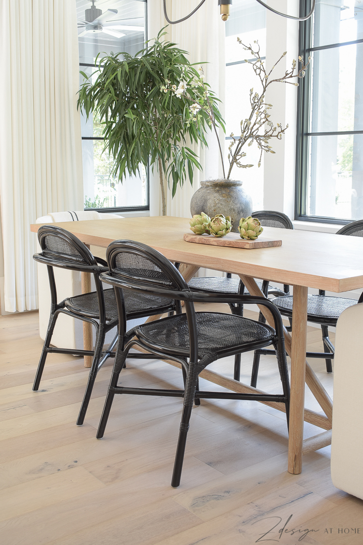 black can rattan dining chair