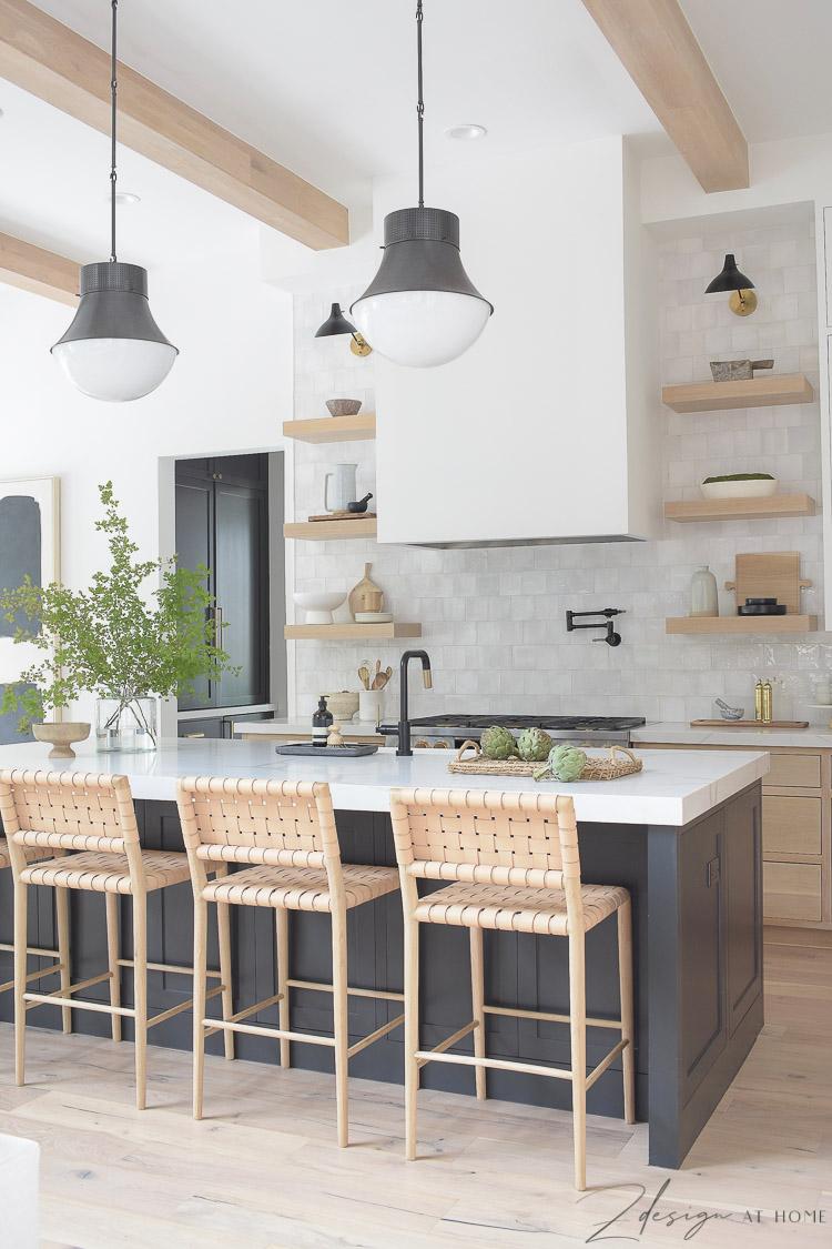 Modern farmhouse kitchen with