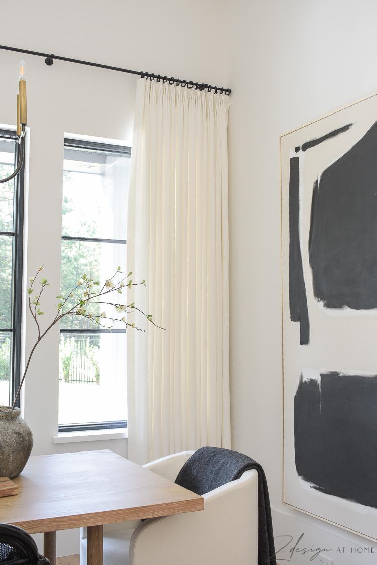 custom made white linen curtains