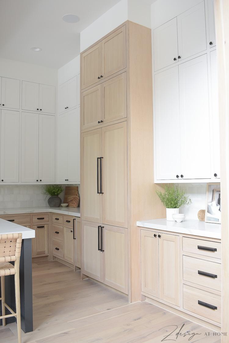 dacor panel ready fridge in modern farmhouse kitchen